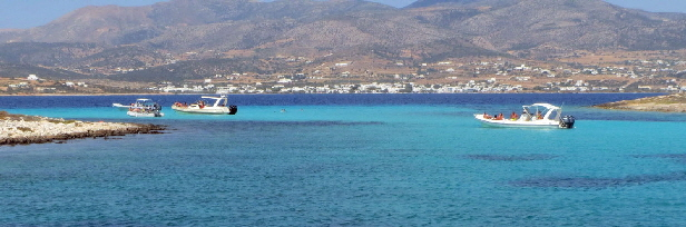The Blue Lagoon - between Paros and Anti-Paros