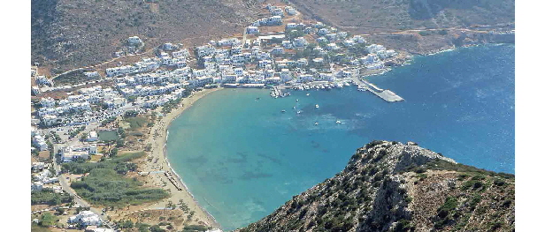 Kamares Port, Sifnos - from the monastery above