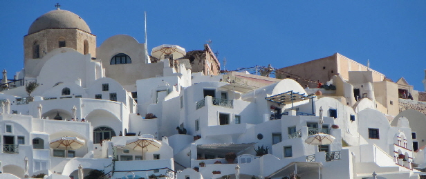 Santorini - Oia from the sea