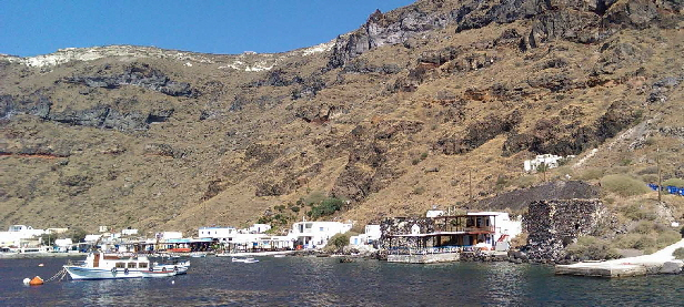 Thirasia - the other remaining part of ancient Thira (Santorini)